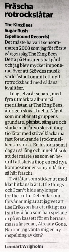 KingBees Recension Lennart Wrigholm